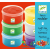 DJECO Modellgyurma 6 színben - 6 light clay boxes