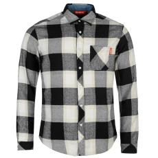 Kickers Flannel férfi hosszú pamut ing fekete kockás M