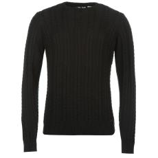 Lee Cooper Cable férfi kötött pulóver fekete M