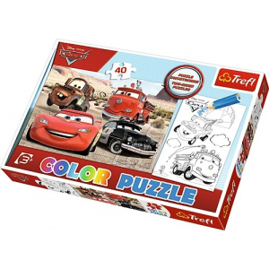 Trefl Puzzle Color Cars in the Desert 40
