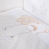 Klups 5 részes ágynemű - Macik csillaggal bézs-fehér