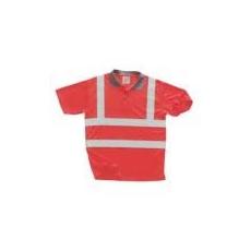 (S477) Jól láthatósági pólóing piros