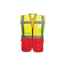 (C476) Vezetői mellény EN 471 sárga / piros