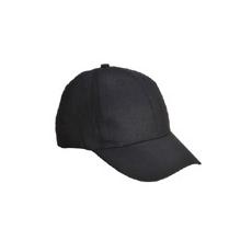 (B010) Baseball Sapka 6 paneles, fekete