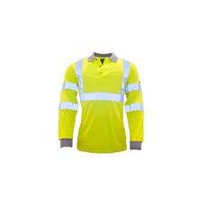 (FR77) Lángálló, antisztatikus, láthatósági pólóing sárga