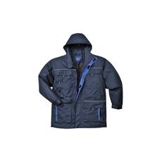 (TX30) Bélelt kabát sötétkék