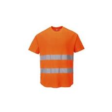 (C394) Hálós jól láthatósági póló narancs