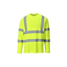 (S278) Hosszú újjú jól láthatósági pólóing sárga