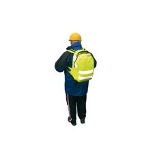 (B905) Sztenderd fényvisszaverős hátizsák sárga