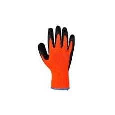(A143) Thermal Soft Grip kesztyű narancs- fekete - Latex hab