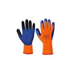 (A185) Duo Therm kesztyű narancs - kék - latex