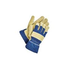 Shag  téli bélelt  munkavédelmi bőrkesztyű kék