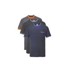 (TX22) Texo kontraszt póló szürke