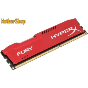 Kingston 4GB DDR3 1866MHz (HX318C10FR/4) HyperX Fury Red CL10 Memória (3 év garancia)