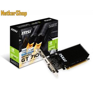 MSI Nvidia Geforce GT 710 1GD3H LP 1GB DDR3 PCI Express Videokártya (3 év garancia)