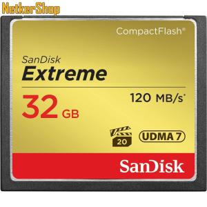 Sandisk 32GB Extreme Compact Flash Memóriakártya (10 év garancia)