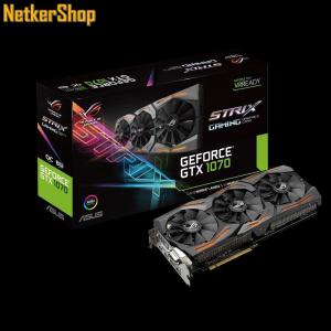 Asus Nvidia Geforce STRIX-GTX1070-O8G-GAMING 8GB DDR5 PCI Express Videokártya (3 év garancia)