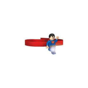 LEGO LGL-HE7 - LEGO Superman csiptethető és fejre rakható minifigura LED lámpa