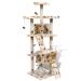 Macska fa/Macskabútor 170cm 2 társasházi lakás bézs mancsnyomatokkal