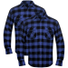 2 db kockás férfi ing méret L kék-fekete