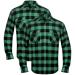 2 db kockás férfi ing méret XXL zöld-fekete