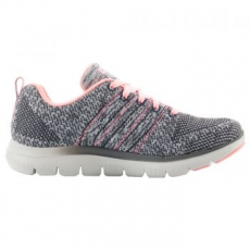 Skechers FLEX APPEAL 2.0 HIGH ENERGY női sportcipő, Charcoal&Gray/Coral, 36 (12756-CCCL-36)
