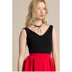 Missguided Top Bardot Crepe