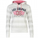 Lee Cooper női kapucnis pulóver - Lee Cooper Textured AOP Over The Head Hoody Ladies