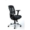 MAYAH Irodai szék, állítható karfás, hálós ülőlap, hálós háttámla, alumínium lábkereszt, MAYAH
