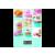 Scarlett SCKS57P05 digitális konyhai mérleg (süteménymintás)
