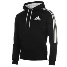 Adidas 3S Logo férfi kapucnis pulóver fekete XXL