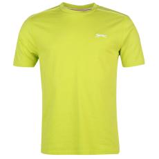 Slazenger Plain férfi kerek nyakú póló lime XXL