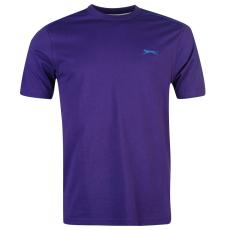 Slazenger Plain férfi kerek nyakú póló lila XXL
