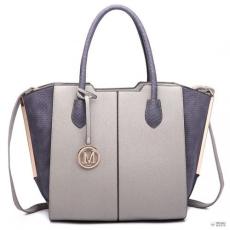 Miss Lulu London LT6625- Miss Lulu női nagyméretű bevásárló táska táska szintetikus bőr szürke