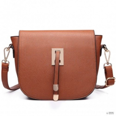 Barna Miss Lulu London LT6631- Miss Lulu szintetikus bőr Cross-Body táska táska barna