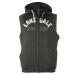 Lonsdale Box férfi kapucnis cipzáras ujjatlan pulóver sötétszürke 3XL