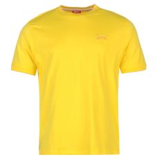 Slazenger Tipped férfi kerek nyakú pamut póló sárga M