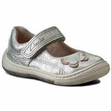 Clarks Félcipő CLARKS - Softly Wow Fst 261234936 Silver Leather
