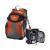 Hama Bormio140 narancs/fekete hátizsák