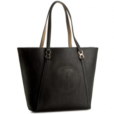 Tommy Hilfiger Táska TOMMY HILFIGER - Fashion Novelty Tote Perf AW0AW03516 901