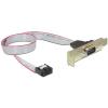 Gembird Serial pinheader -> Serial RS-232 F/M hátlapi kivezetés 0.4m low-profile