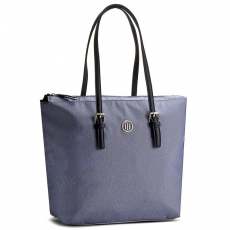 Tommy Hilfiger Táska TOMMY HILFIGER - Modern Nylon Tote Chambray AW0AW03798 050