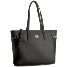 Tommy Hilfiger Táska TOMMY HILFIGER - Th Chain Medium Tote AW0AW03708 002