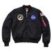 Alpha Industries MA-1 VF NASA - fekete