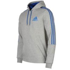 Adidas 3S Logo férfi kapucnis pulóver kék XXL