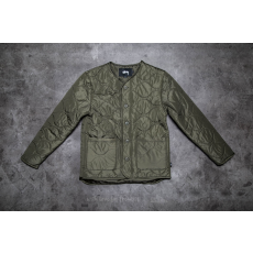 STUSSY Quilted Military Jacket Olive