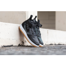 Nike Lunar Force 1 Flyknit Workboot Black/ White-Wolf Grey