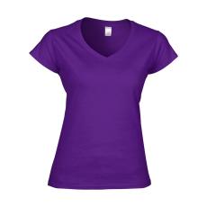 GILDAN női v-nyaku Softstyle póló, lila