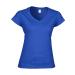 GILDAN női v-nyaku Softstyle póló, királykék