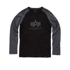 Alpha Industries Basic T LS - black/greyblack hosszú ujjú póló